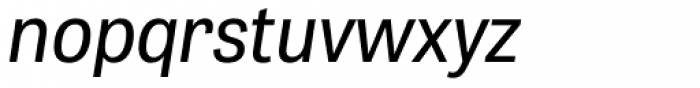 Tablet Gothic Narrow Oblique Font LOWERCASE