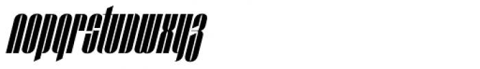 Taboo Pro Medium Italic Font LOWERCASE