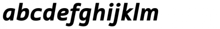 Tabula Std Black Italic Font LOWERCASE