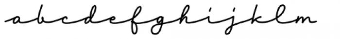 Tabulamore Script Bold Font LOWERCASE