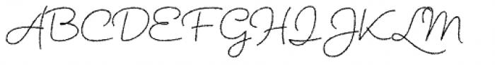 Tabulamore Script Light Rough Font UPPERCASE