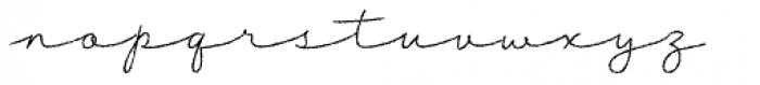 Tabulamore Script Light Rough Font LOWERCASE