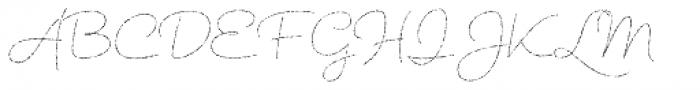 Tabulamore Script Thin Rough Font UPPERCASE