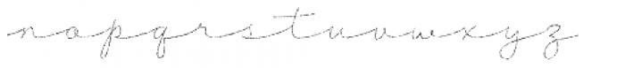 Tabulamore Script Thin Rough Font LOWERCASE
