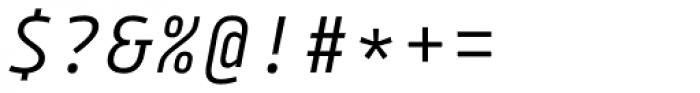 Tabular Italic Font OTHER CHARS