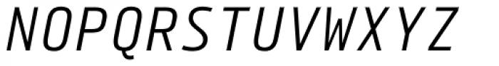 Tabular Italic Font UPPERCASE