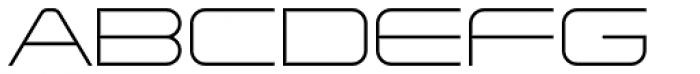 Tachyon Thin Font UPPERCASE