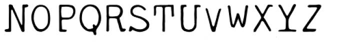 Tacora Font UPPERCASE