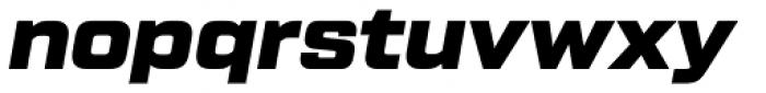 Tactic Sans Black Italic Font LOWERCASE