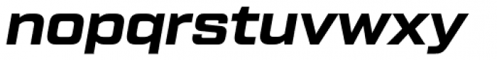 Tactic Sans Bold Italic Font LOWERCASE