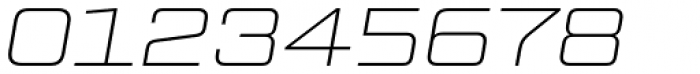 Tactic Sans Extended Thin Italic Font OTHER CHARS