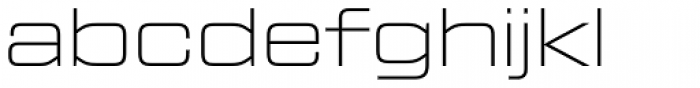 Tactic Sans Extended Thin Font LOWERCASE