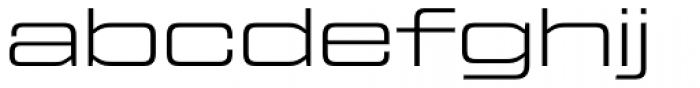 Tactic Sans Extra Extended Light Font LOWERCASE