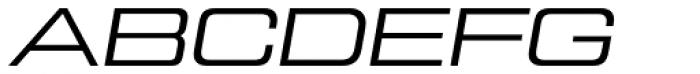 Tactic Sans Extra Extended Regular Italic Font UPPERCASE