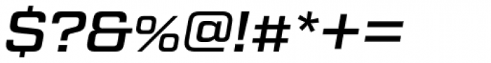 Tactic Sans Medium Italic Font OTHER CHARS