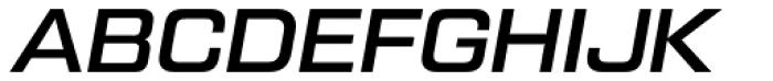 Tactic Sans Medium Italic Font UPPERCASE