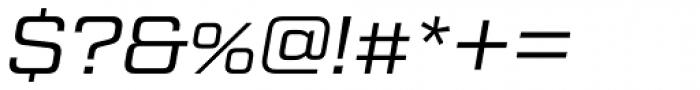 Tactic Sans Regular Italic Font OTHER CHARS