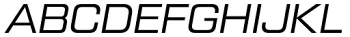 Tactic Sans Regular Italic Font UPPERCASE