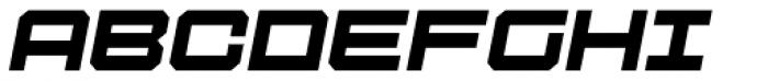 Tactical Oblique Font UPPERCASE
