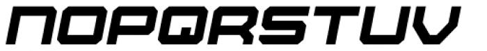 Tactical Oblique Font LOWERCASE
