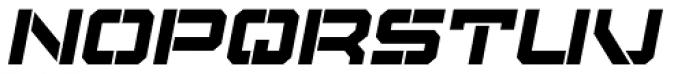 Tactical Stencil Oblique Font UPPERCASE