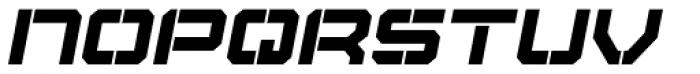 Tactical Stencil Oblique Font LOWERCASE