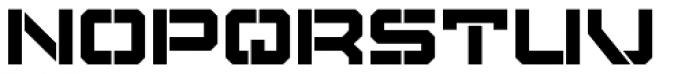Tactical Stencil Font UPPERCASE