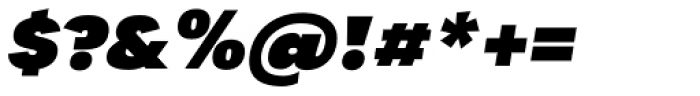 Tafel Sans PC Black It Font OTHER CHARS