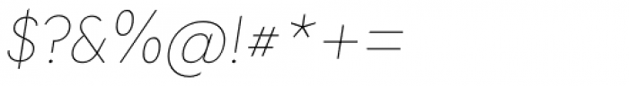 Tafel Sans PC Thin It Font OTHER CHARS