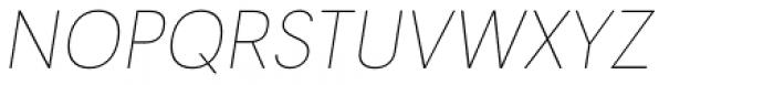 Tafel Sans PC Thin It Font UPPERCASE