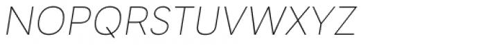 Tafel Sans PC Thin It Font LOWERCASE
