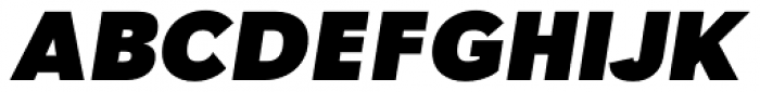 Tafel Sans Pro Black Italic Font UPPERCASE
