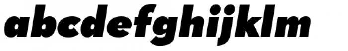 Tafel Sans Pro Black Italic Font LOWERCASE