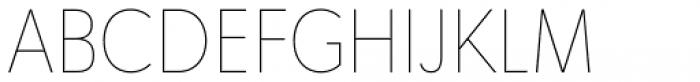 Tafel Sans Pro Thin Font UPPERCASE