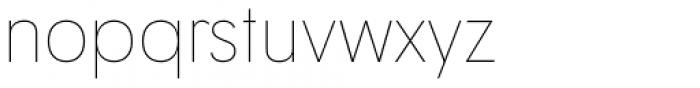 Tafel Sans Pro Thin Font LOWERCASE