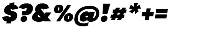 Tafel Sans SC Black Italic Font OTHER CHARS