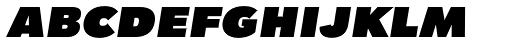 Tafel Sans SC Black Italic Font LOWERCASE