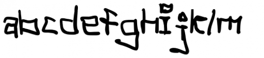 Tag Hand Graffiti Trash Fat Font LOWERCASE
