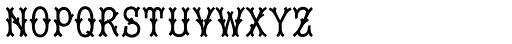 Tagliato Monogram Solid (25000 Impressions) Font LOWERCASE