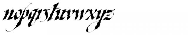 Taliography Font LOWERCASE