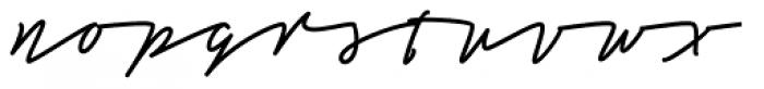 Tamoro Script Black Font LOWERCASE