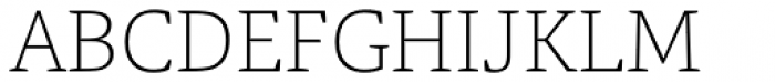 Tangent Thin Font UPPERCASE