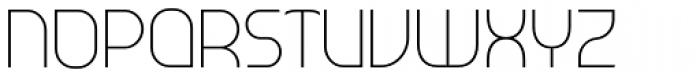 Tangential Light Font UPPERCASE