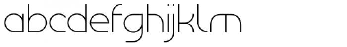 Tangential Light Font LOWERCASE