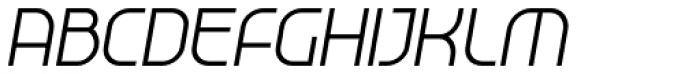 Tangential Medium Tilted Font UPPERCASE