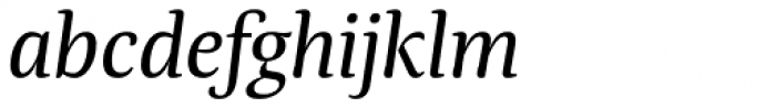 Tanger Serif Medium Italic Font LOWERCASE