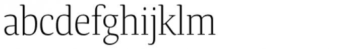 Tanger Serif Narrow Light Font LOWERCASE