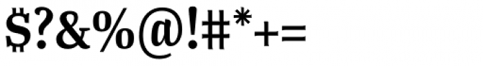 Tanger Serif Narrow SemiBold Font OTHER CHARS