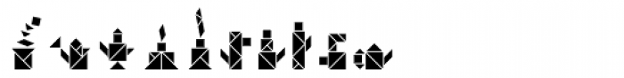 Tangram Objects Inline Font OTHER CHARS