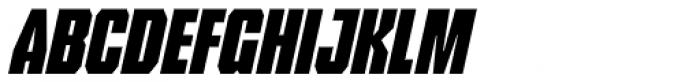 Tank Lite Italic Font LOWERCASE